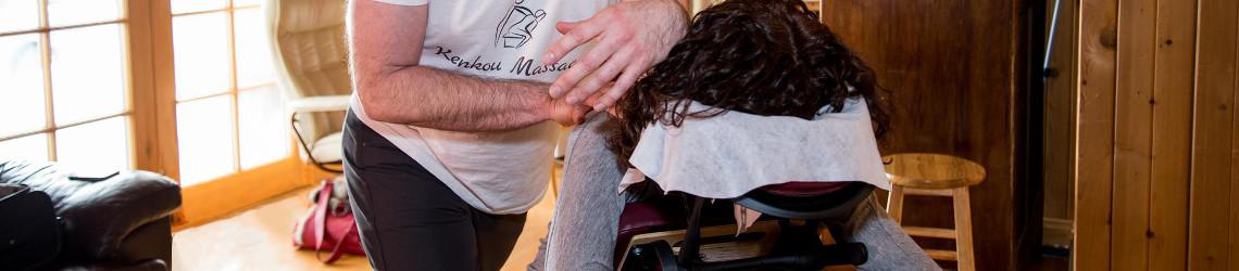 Massage Amma sur chaise et sur table